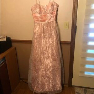 Pink Glittery Prom Dress Size 13/14 Dresses By Deb